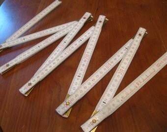 White Folding Ruler , 6-1/2 Foot Folding Ruler