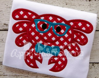 Mr. Crab Applique Design