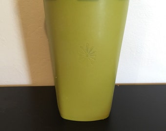 Vintage Green Tupperware Snackeeper canister/ tall tupperware canister/ servalier canister/ Tupperware # 1222