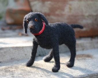 Needle Felted Black Labrador Retriever