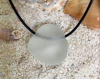 Sea Glass Jewelry/ Beach Glass -- Genuine Surf Tumbled Sea Glass Pendant / Sea Glass Necklace / Jewelry Grade Seaglass Pendant