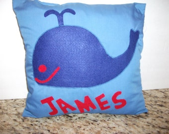 Personalized Whale Pillow/James