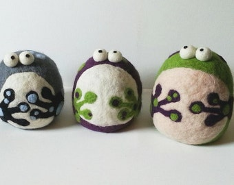 Choose Your Colors! Felted, Weighted Frog, Novelty Bookend, Doorstop, Paperweight, Decoration