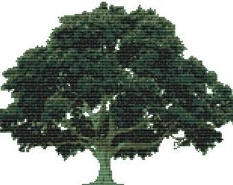 Cross stitch kit- old oak tree 31cm x 22cm
