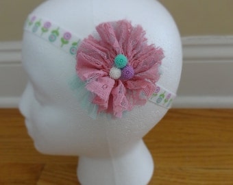 Beautiful Lace Flower Headband