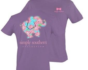 NEW 2016 Simply Southern Preppy Elephant short sleeve Tshirt design!