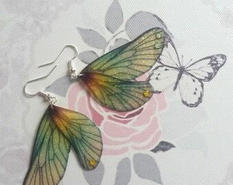 Beautiful Woodland Fae Wing Earrings