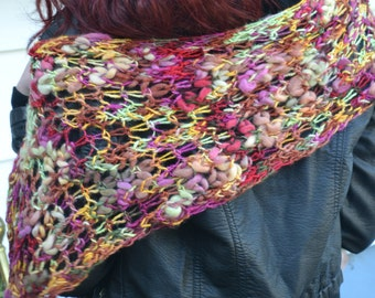 Hand Knit Scarf - Lace Roughly