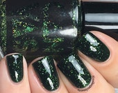 The Demogorgon by CANVAS lacquer - a blackened green with green glitter