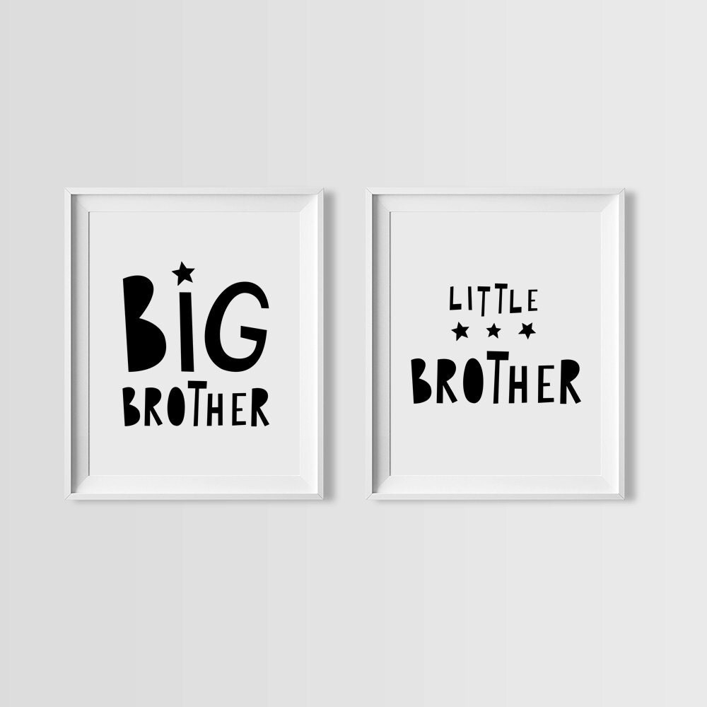 Little Brother Big Brother Quotes: Big Brother Little Brother Printable Quote Nursery Set
