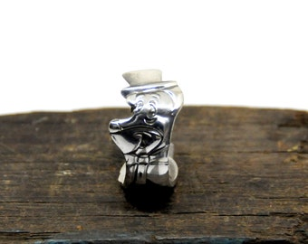 huckleberry hound ring, spoon ring,  cartoon ring, hound ring
