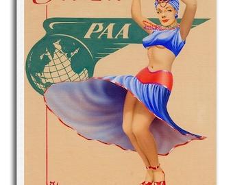 Brazil Poster Travel Art Vintage Print Canvas Hanging Wall Decor xr959