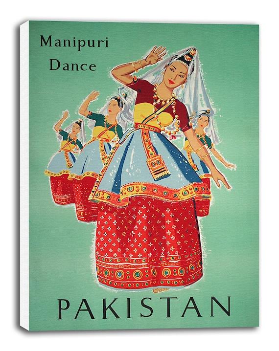 Pakistan Art Travel Poster Vintage Home Decor Print Retro