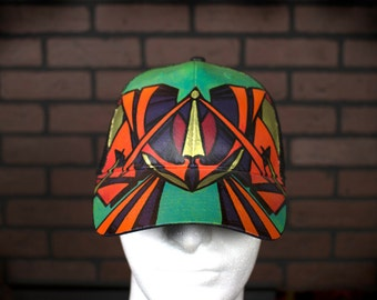 Hand Painted Abstract 'W' Graffiti Hat by M.pi.R