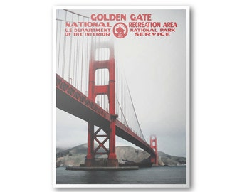 Golden Gate National Recreation Area Travel Poster