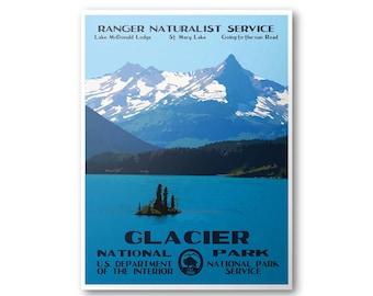 Glacier National Park Travel Poster