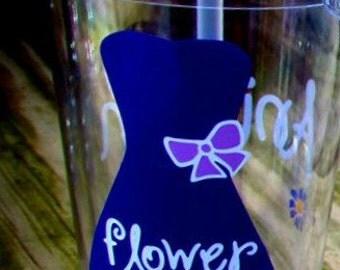 Flower Girl, Flower Girl Gift, Flower Girl Cup, Personalized Flower Girl Cup, Personalized Flower Girl Gift, Flower Girl Tumbler