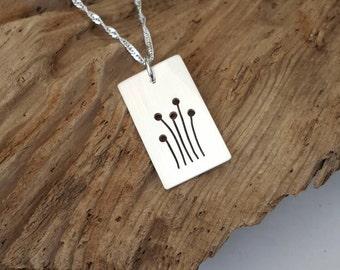 Sterling Silver Dandelion pendant