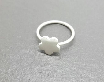 Sterling and Fine Silver Flower Ring