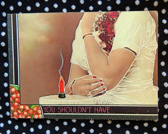 Vintage 1980s Romantic Surreal postcard - for Dover Publications by William Rowe