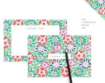 Wedding Thank You Card Printable Floral Flower Digital Download