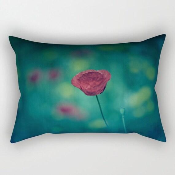 Green Rectangle Throw Pillow : Green Pillow Rectangular Pillow with Insert Rectangular