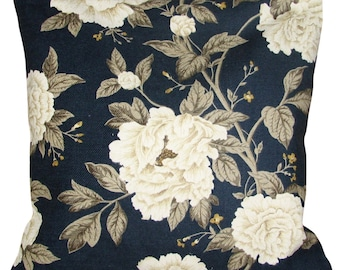 Sanderson Peony Tree Midnight & Ivory Cushion Cover