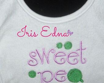 Sweet Pea Baby Bib