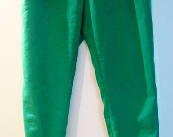 Green cuff trousers / joggers