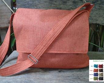 Orange  Messenger bag/Crossbody bag/Diaper bag/tote/ Crossbody/Purses/Navy Blue bag