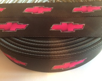 "Chevy 7/8"" Grosgrain Ribbon - 5 Yards, Pink"