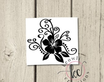 Hibiscus Flower Decal-Style 03