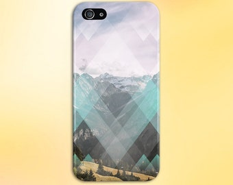 Faded Geometric Diamonds x Rocky Mountain Phone Case for iPhone 6 6 Plus iPhone 7  Samsung Galaxy  & s7 and Note 5  S8 Plus Phone Case