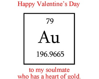 Valentines Day For Him, Valentines Day For Husband, Chemistry Valentines  Day Card, Romantic