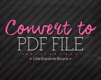 PDF File Format - Single Printable File - Add On