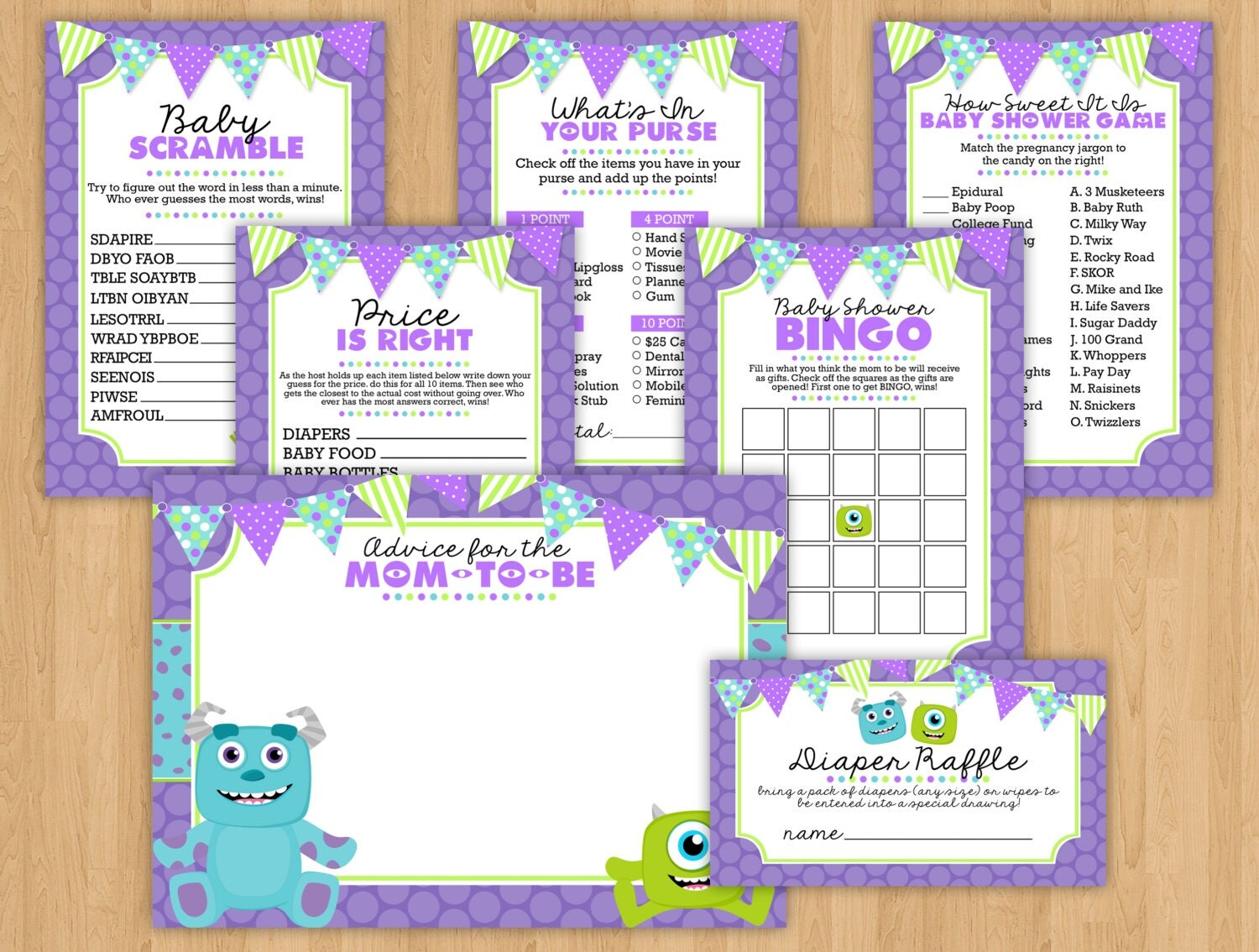 monsters inc baby shower  etsy, Baby shower