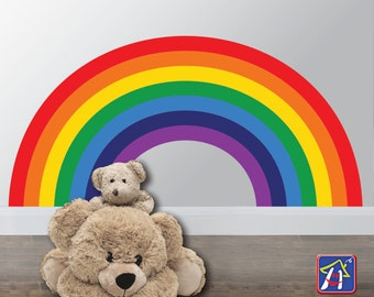 Rainbow Wall Decal - Rainbow Wall decor - Kids Bedroom Rainbows - Rainbow Room Decor - Nursery Wall decal, Playroom decor, Toddler bedroom