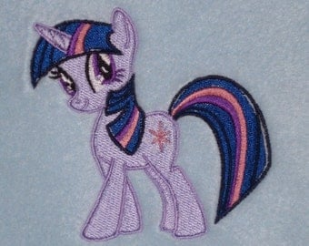 Personalised Fleece Baby Blanket - Twilight Sparkle My Little Pony Design (208)