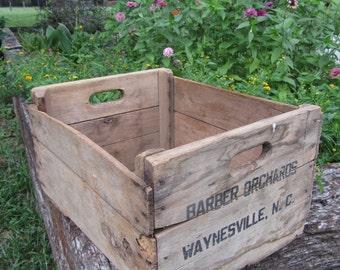 Vintage Wood Crate / Antique Box / Wood Storage Box