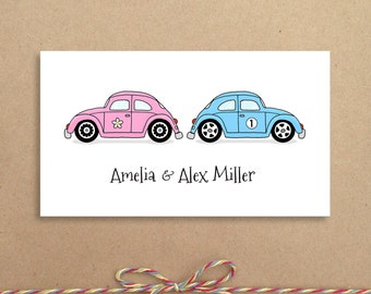 Love Bugs Calling Cards - Love Bugs Gift Card - Personalized Calling Cards - Children's Calling Cards - Custom Calling Cards
