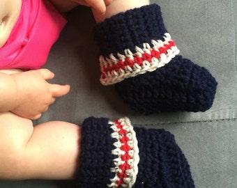 Adjustable wool baby booties - adjustable wool baby booties