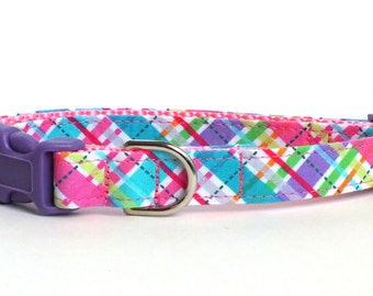 Easter Plaid Dog Collar