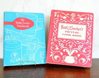 Vintage Betty Crocker Picture Cookbook with Notebook, Hardcover Spiral Bound Binder, First Edition
