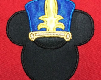 BAND HAT (choose your school colors) Mouse Head Inspired By Mickey Embroidered and Appliqued T-Shirt for Children and Adults