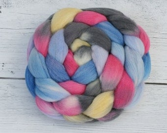 Polwarth - Tussah Silk  Spinning Fiber  - Why Is A Raven Like A Writing Desk