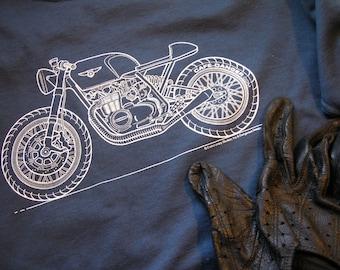 Honda Cafe Racer Blueprint Shirt
