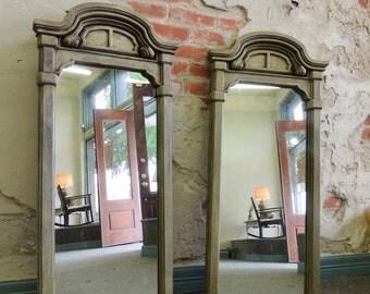 Items similar to full length rectangular art deco wall for Long hanging mirror
