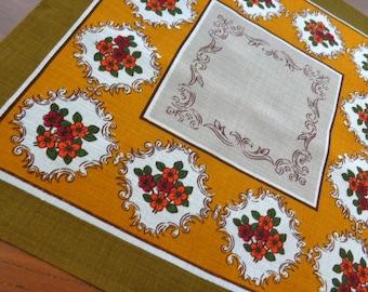 Vintage small print tablecloth retro
