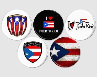 Puerto Rico Pins, I Love Puerto Rico, Puerto Rico Buttons, Puerto Rican Magnets, Puerto Rican Wedding, Puerto Rico Pinback - BB2132
