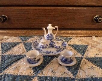 Vintage Miniature Colonial Courting Couple Tea Set
